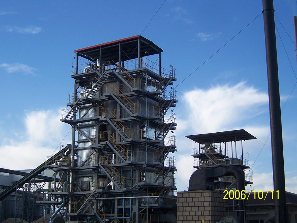 Pioneer seed Jiuquan corn processing center 14MW corncob boiler